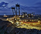 Image of a Strip Mine at Night