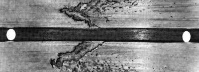Image showing discharge cavitation erosion